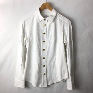 Jude connally Button Down shirt white small